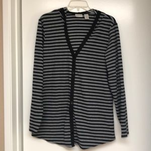 Cute hooded long cardigan Chico's size 2
